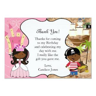 Cartões de agradecimentos escuros da pele do convites