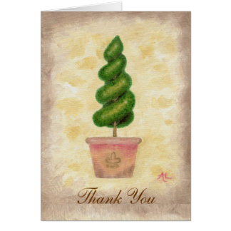 Cartões de agradecimentos espirais do Topiary
