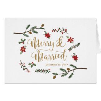 Cartões de agradecimentos festivos do casamento do