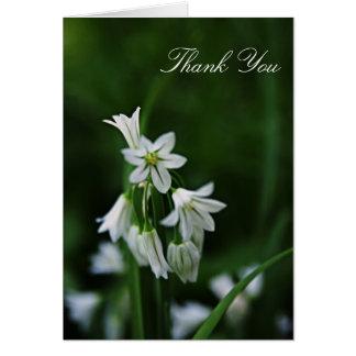 Cartões de agradecimentos florais brancos