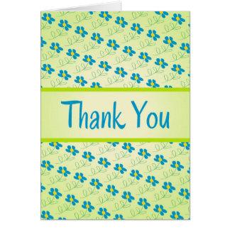 Cartões de agradecimentos florais da arte