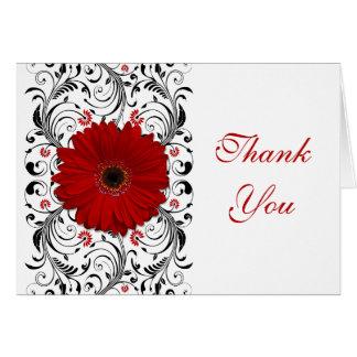 Cartões de agradecimentos florais da margarida ver
