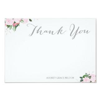Cartões de agradecimentos florais das flores convite 8.89 x 12.7cm