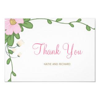 Cartões de agradecimentos florais do casamento da convite 8.89 x 12.7cm