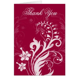 Cartões de agradecimentos florais do casamento do