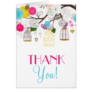 Cartões de agradecimentos florais do casamento dos