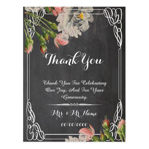 cartões de agradecimentos florais do quadro cartoes postais
