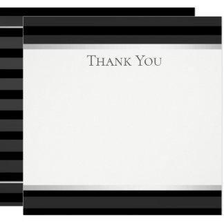 Cartões de agradecimentos formais da listra de