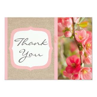 Cartões de agradecimentos formais de serapilheira convites personalizados