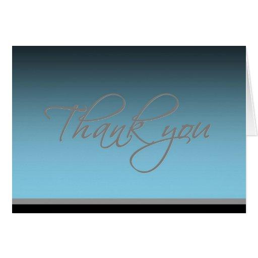 Cartões de agradecimentos - fulgor elegante