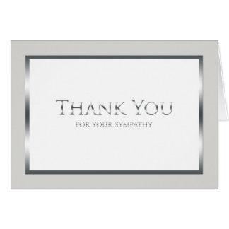 Cartões de agradecimentos fúnebres vazios - prata