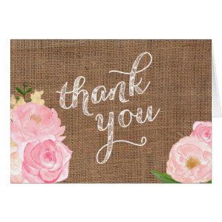 cartões de agradecimentos gastos e chiques 5x7 do