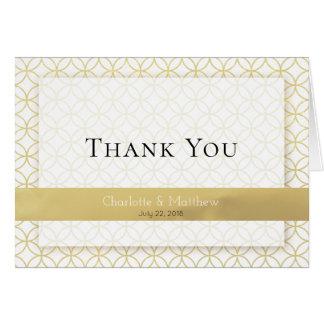 Cartões de agradecimentos geométricos do casamento