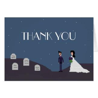 Cartões de agradecimentos góticos do casamento do
