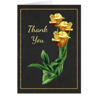 Cartões de agradecimentos impressionantes do rosa