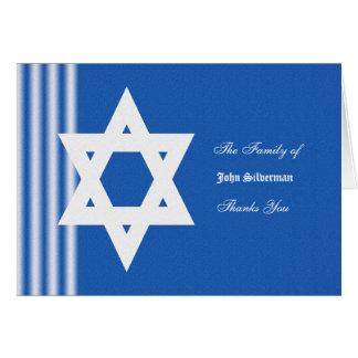 Cartões de agradecimentos judaicos da simpatia -