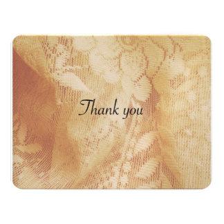 cartões de agradecimentos laçado do casamento convite 10.79 x 13.97cm