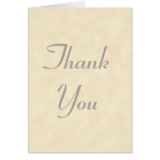 Cartões de agradecimentos leves elegantes do perga