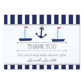 Cartões de agradecimentos lisos do chá de fraldas convite 11.30 x 15.87cm