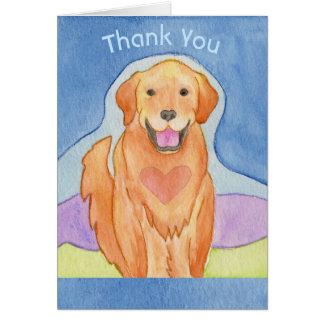 Cartões de agradecimentos Loving do cão