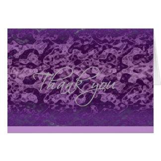 Cartões de agradecimentos - máscaras do roxo