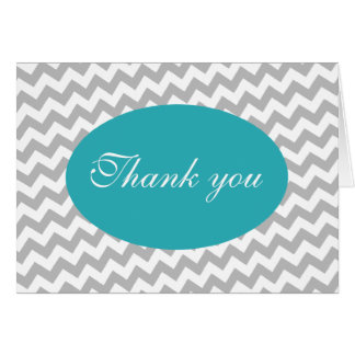 Cartões de agradecimentos modernos de Chevron cinz