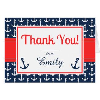 Cartões de agradecimentos náuticos