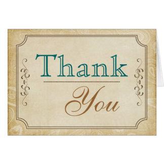 Cartões de agradecimentos ocidentais do estilo