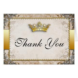 Cartões de agradecimentos ornamentado do casamento