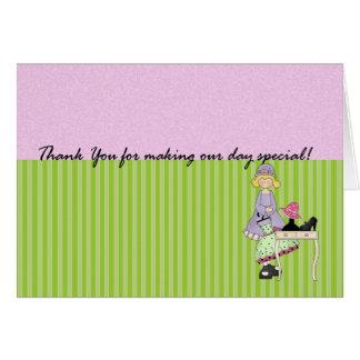 Cartões de agradecimentos para a dama de honra - o