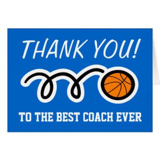 Cartões de agradecimentos para o treinador de beis