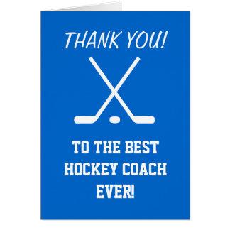 Cartões de agradecimentos para o treinador de hóqu