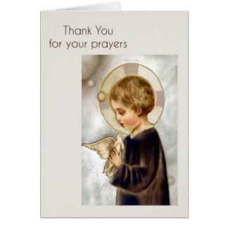 Cartões de agradecimentos para orações