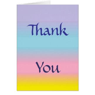 Cartões de agradecimentos Pastel