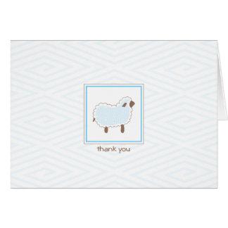 Cartões de agradecimentos pequenos azuis do