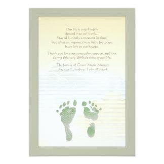 Cartões de agradecimentos pequenos do falecimento convite 12.7 x 17.78cm