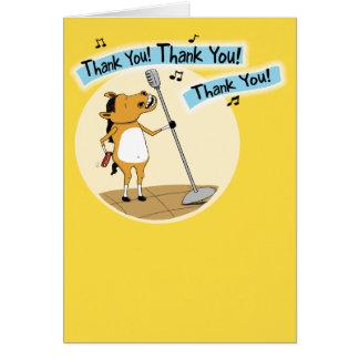 Cartões de agradecimentos pequenos engraçados do