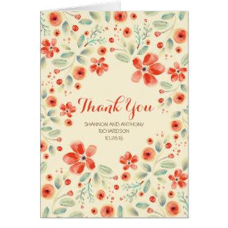 cartões de agradecimentos pintados mão do
