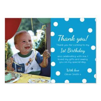 Cartões de agradecimentos pontilhados polca do convite 12.7 x 17.78cm