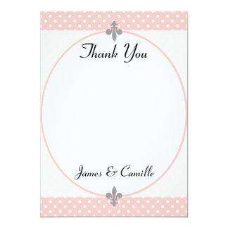 Cartões de agradecimentos populares das bolinhas convite 12.7 x 17.78cm