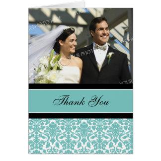 Cartões de agradecimentos pretos do casamento da