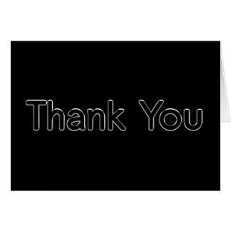 Cartões de agradecimentos pretos e de prata