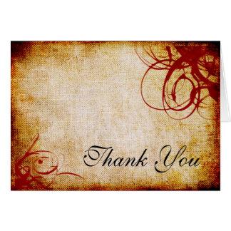 Cartões de agradecimentos rodados Textured vermelh