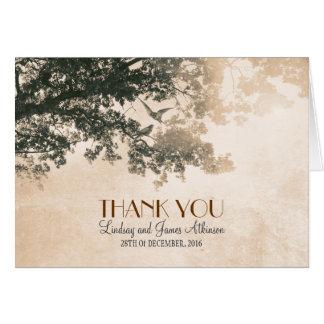 Cartões de agradecimentos românticos do vintage co