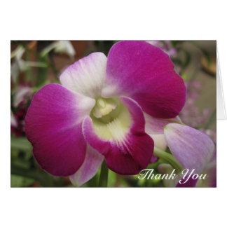 Cartões de agradecimentos roxos da orquídea do