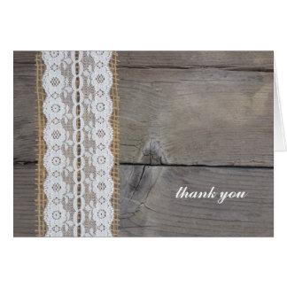 Cartões de agradecimentos rústicos