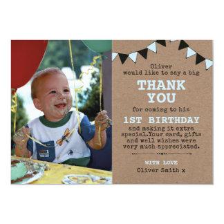 Cartões de agradecimentos rústicos do aniversário convite 12.7 x 17.78cm