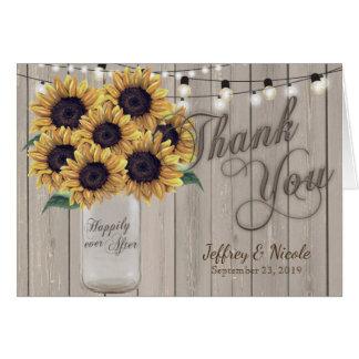 Cartões de agradecimentos rústicos do casamento do