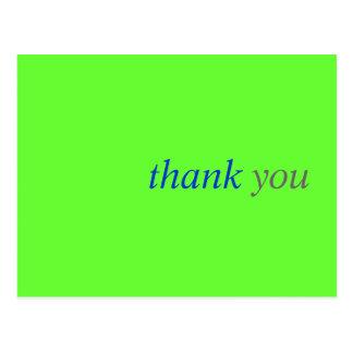 Cartões de agradecimentos simples:  Cartão