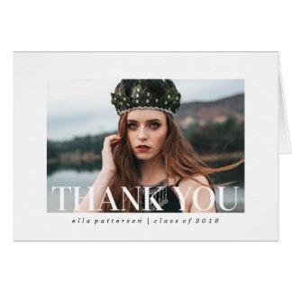 Cartões de agradecimentos simples da graduação da